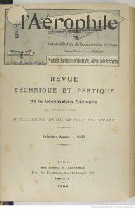 L'Aérophile 1908 Bnf
